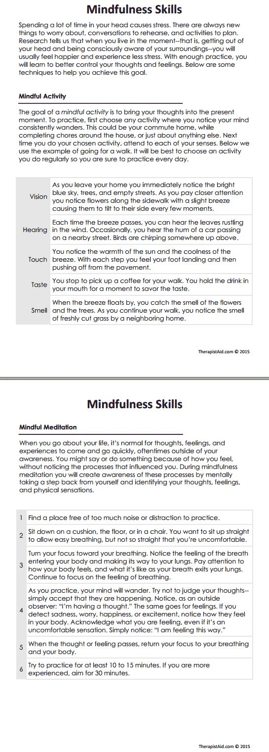 DBT Mindfulness Skills Preview | In Session.. Self-knowledge ...