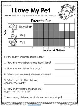 Free printable first grade graphing worksheets