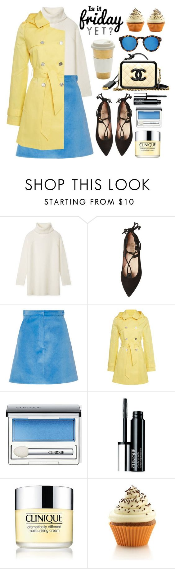"""""""Is it friday yet?"""" by alaria ❤ liked on Polyvore featuring Tory Burch, French Sole FS/NY, Carven, Lauren Ralph Lauren, Clinique, Lékué, Illesteva, women's clothing, women's fashion and women"""