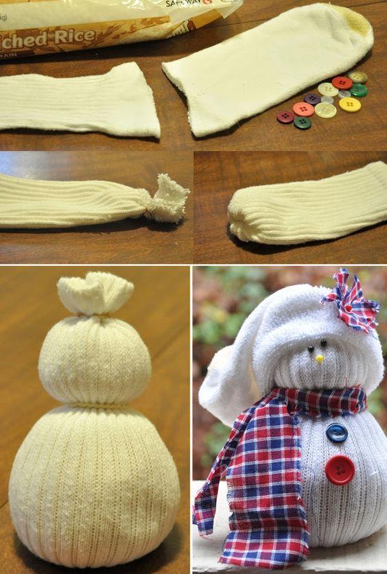Crafts kid sock snowman for kids sock crafts for kids diy and crafts