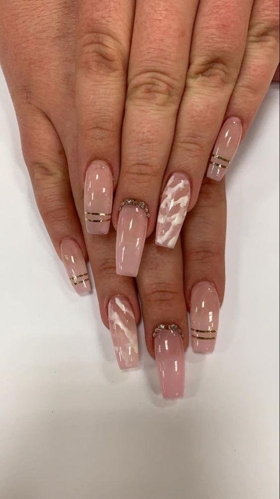 Pin By Celess F On Nails Lavender Nails Blush Pink Nails Blush Nails