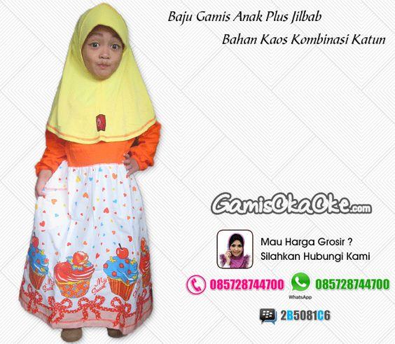 Jual Baju Muslim Anak Perempuan Murah Model Gamis Terbaru