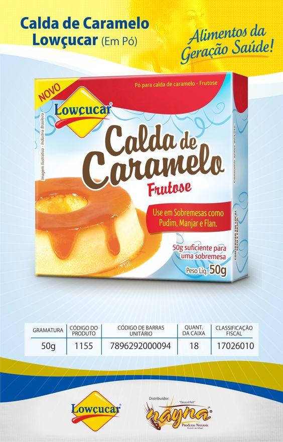 Pó Para Preparo de Calda de Caramelo Lowçucar Frutose Diet 50gr