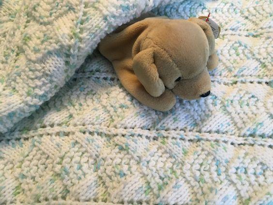 #cpromo White receiving blanket for newborn boy or girl