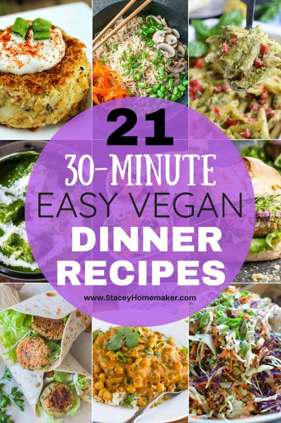 21 Family Favorite Easy Vegan Dinner Recipes (Ready in 30 Minutes!) - Stacey Homemaker