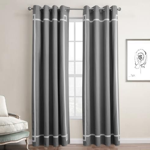 Simple White And Gray Modern Funky Blackout Bedroom Curtains Striped Curtains Living Room Living Room Decor Curtains Home Decor Bedroom