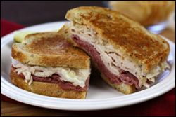 Hungry Girl's Double-Delicious Reuben Sandwich.