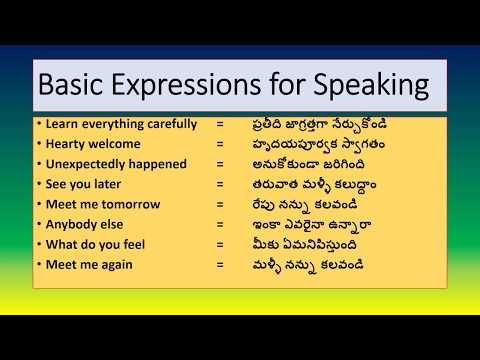 Some Common Expressions Spoken English Through Telugu Learn English Easily Youtube Learn English English Learner English Words