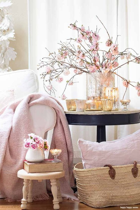 Add candles of any size or style to your Hygge home. Hygge Essentials For Your Home is super easy to add. Quickly create a wonderful cozy nest with just a few home decor touches. Add a few of these 5 basics things and you'll be so happy with your new space. #hygge #homedecor #decorating #hyggedecor #hyggehome #happyhappynester