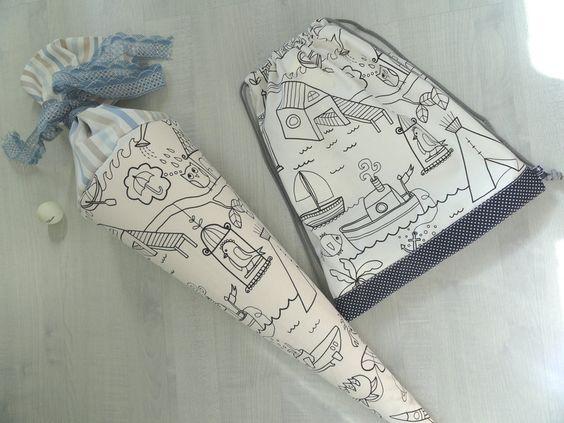 Schultüten - Rucksack/Sportbeutel - ein Designerstück von kleinerSonnenstrahl bei DaWanda