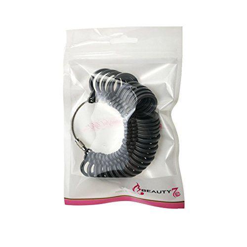 Baguier Calibre Plastique Mesure de Taille de Doigt Outil de Dimensionnement Taille Standard Europ/éenne Gris