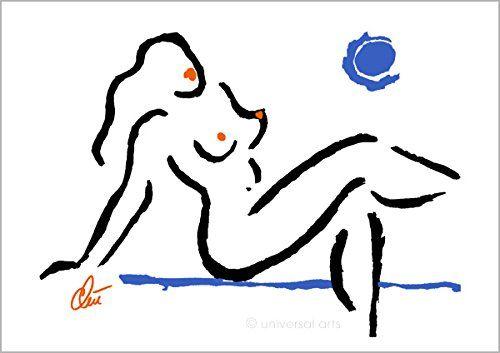 Jacqueline Ditt - Hot Girl - Blue Moon (Heisses Mädchen - Blauer Mond) - universal arts Galerie Studio - Original Grafik Druck limitiert handsigniert und nummeriert universal arts Galerie Studio edition http://www.amazon.de/dp/B0143BAP9M/ref=cm_sw_r_pi_dp_5.k2vb0PVS2KQ