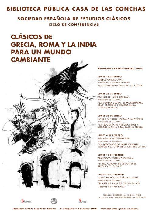 Clásicos de Grecia, Roma y la India | Biblioteca Pública de Salamanca | Junta de Castilla y León