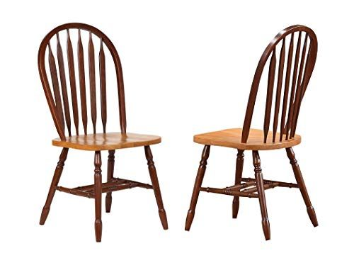 Sunset Trading Arrowback Dining Chair With Light Oak Seat Set Of