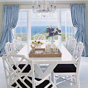 What a beautiful dining area.   *CoastalLiving.com