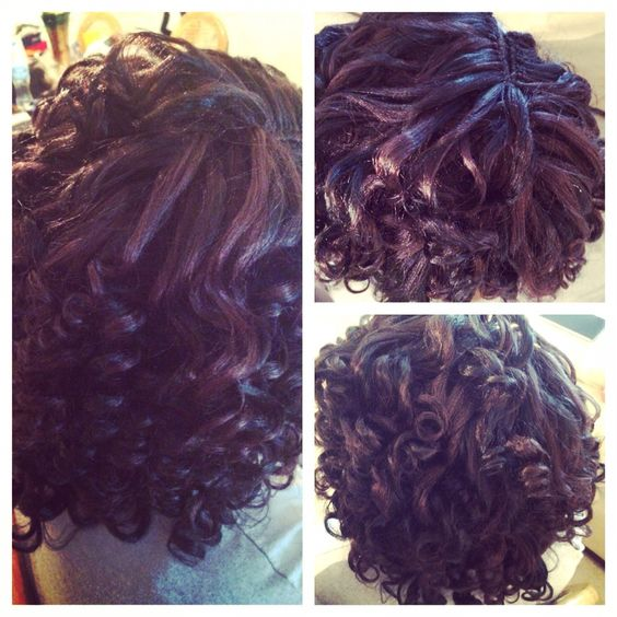 Crochet Xpression Hair : Crochet braids with xpression hair and medium sized perm rods ...