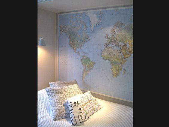 Mapas são lindos e muita gente nunca imaginou que pudessem ser grandes aliados na decoração.