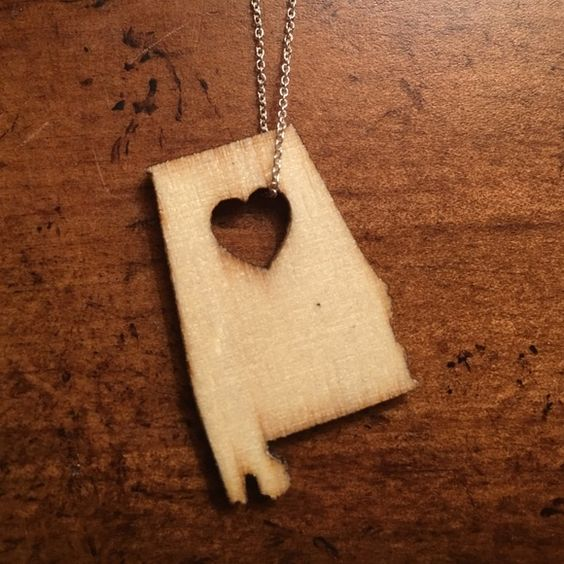 Alabama wooden necklace Wooden Alabama necklace. Brand new! Jewelry Necklaces
