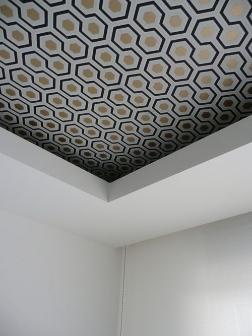Colored ceiling wallpaper ideas