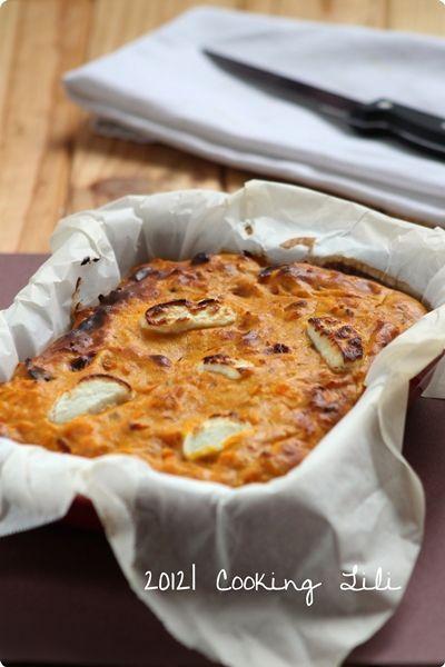 Gâteau de potimarron et chèvre frais