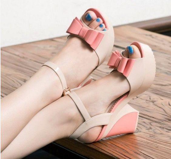 Aliexpress.com: Comprar Caliente! mujeres de moda sandalias sandalias de tacón alto de calidad de los rhinestones zapatos de mujer sandalias de plataforma bohemia mujeres de las sandalias de 2 colores de sandalias de piedra confiables proveedores de Online Store 336401.