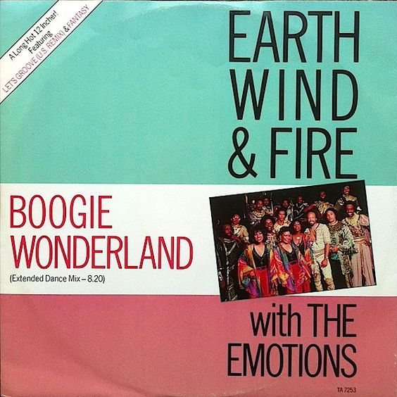 Earth, Wind & Fire, The Emotions – Boogie Wonderland (single cover art)