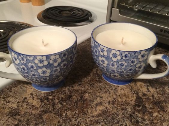 Tea cup candles!
