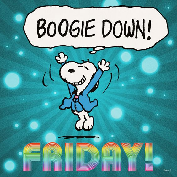 Image result for happy friday peanuts gang