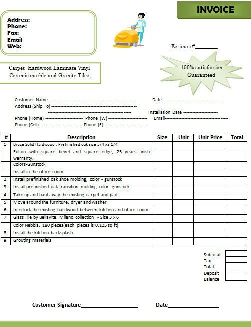 Flooring Invoice Templates 14 Word Pdf Excel Templates Template Sumo Invoice Template Excel Templates Words