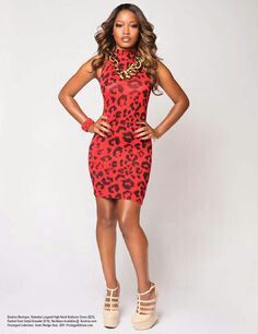 Keke Palmer red leopard dress. - Everything&-39-s Leopard! - Pinterest ...