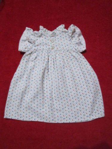 Schoene-alte-Puppenkleidung-Reizendes-Kleid-mit-Blumenmuster