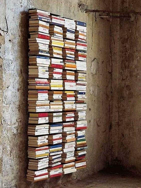 Unsichtbares bücherregal selber bauen  unsichtbares Regal DIY   Diy   Pinterest   Unsichtbar, Bücherregal ...