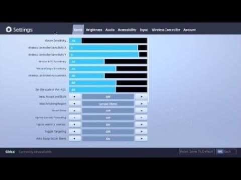 Best Console Building Settings Keybind Settings For Mouse