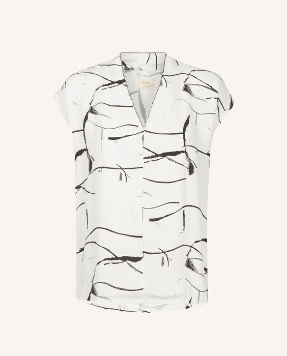 zwart wit t-shirt Nümph in Paleis