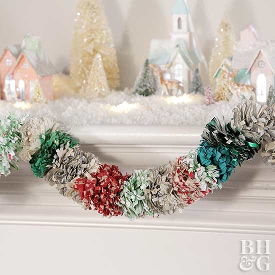 Transform Leftover Wrapping Paper Into This Gorgeous Garland