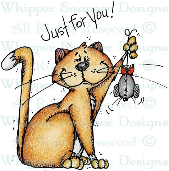 Just For You Cat - Cats - Animals - Rubber Stamps - Shop: