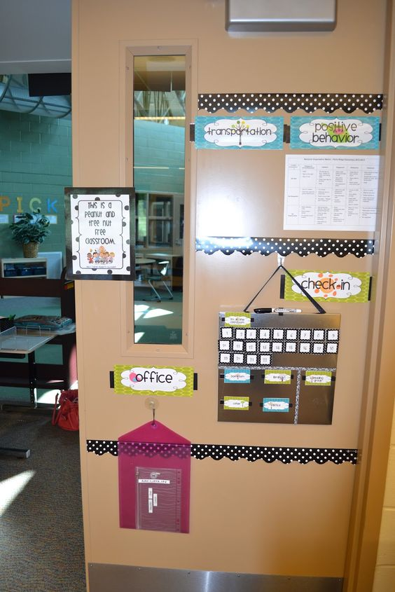 Classroom Design Chart : Classroom organization i like how this door is set up