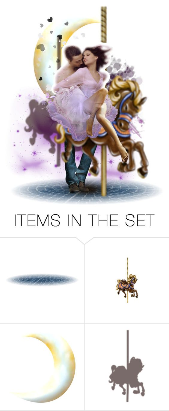 """Love on the carousel...."" by shellfish-suzie ❤ liked on Polyvore featuring art"