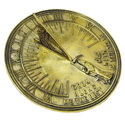 Old Westbury Gardens Sundial: Rome 2330 Father Time Sundial, Solid Polished Brass, 11.5