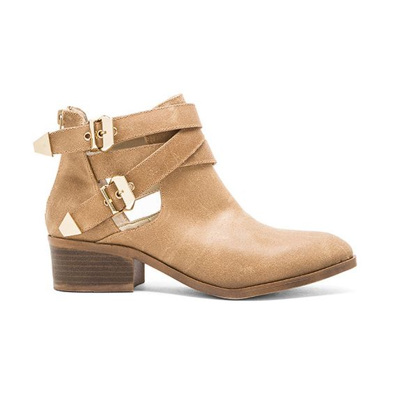 Seychelles Scoundrel Bootie Shoes (175 AUD) ❤ liked on Polyvore featuring shoes, boots, ankle booties, booties, double buckle boots, mid heel boots, back zip ankle boots, mid heel booties and seychelles booties
