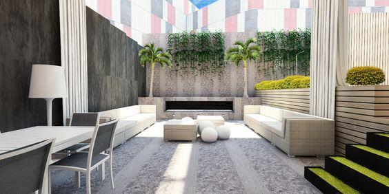 Dise o y terraza terrazas pinterest chimeneas y - Terrazas de diseno ...