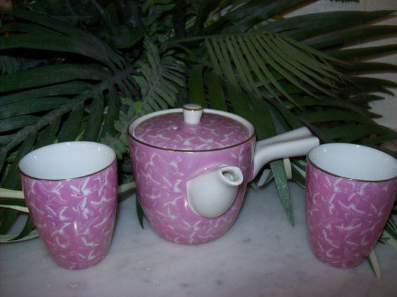 Oriental Tea Set by KeepsakeVintage on Etsy, $19.95