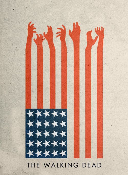 The Walking Dead, from Minimal Movie Posters. The whole site is full of clean, elegant design.