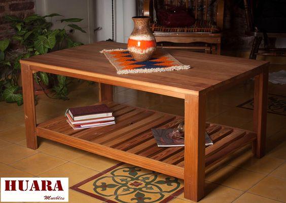 Mesa ratona reciclada hecha a partir de madera de pinotea - Mesas madera reciclada ...