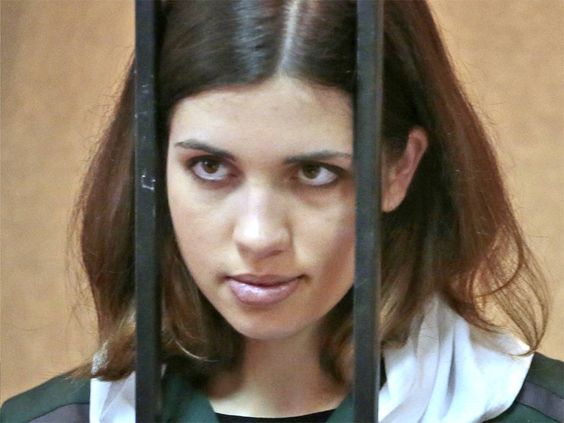 Wow guess things just don't change SMDH!! nice thought of calling their leader what was said better be careful - She has been forced to endure 17-hour working days, eat rotten food, and watch her fellow inmates made to perform humiliating punishments. These are just some of the conditions the Pussy Riot member Nadezhda Tolokonnikova claims to have endured in an open letter this week, which announced her decision to begin a hunger strike in protest against her treatment in a prison.