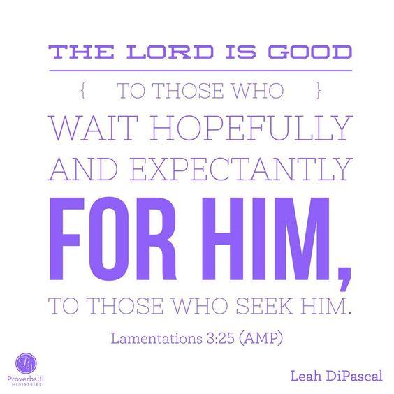 Lamentations 3: 25