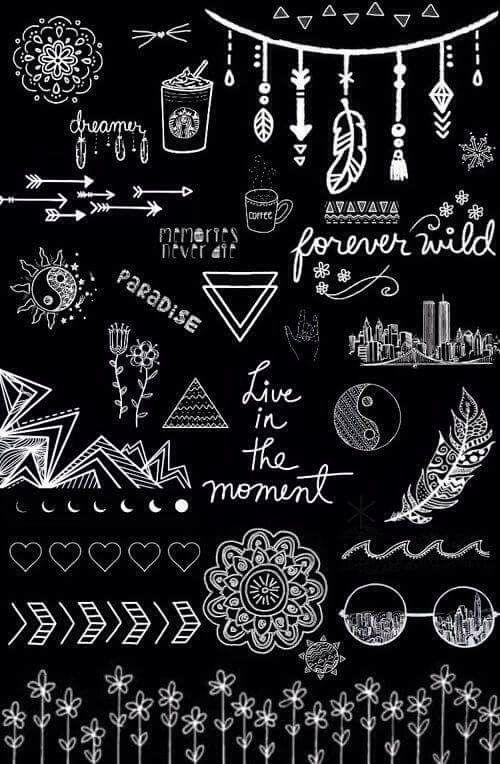 Black cool writing wallpaper