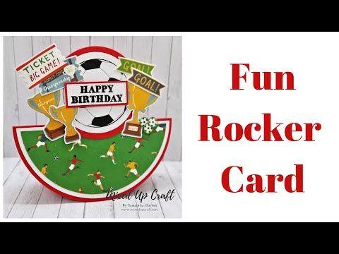 Fun Rocker Card In 2020 Fun Fold Cards Themed Cards Gatefold Cards