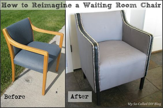 Wow A Boring Ugly Waiting Room Chair Was Totally Revamped