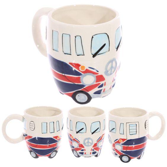 Wohnmobil Britische Flagge Keramik Tasse